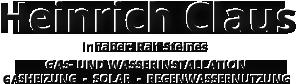 Heinrich Claus GAS- UND WASSERINSTALLATION